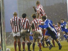 5 January 2002 Alan Stubbs scores from a free kick as the Blues win at Stoke in the FA Cup