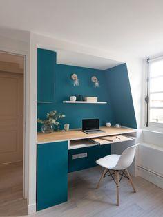 Bureau Design, Home Office Design, House Design, Minimalist Home, Decoration, Office Desk, Corner Desk, Kitchen Design, Bedroom