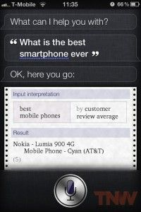 Apples Siri nennt Nokia als bestes Smartphone-But Nokia says iPhone 4s is the best,LOL~~~