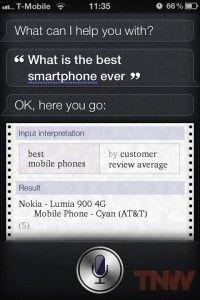 Apples Siri nennt Nokia als bestes Smartphone #fun