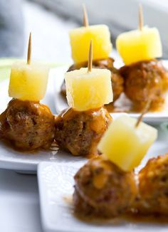 Glazed Party Vegan Meatballs - I would use a slow cooker, Gardein brand  meatballs, and double sauce.