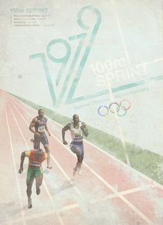 Retro 1979 Olympic Posters by Chris Page, via Behance