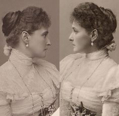 Alix 1898. Presumably two profiles at the same sitting.