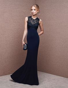 blue maxi dress @roressclothes closet ideas women fashion outfit clothing style