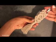 Making Macrame Keychain in 10 Minutes 1 - Pink Rezepte Macrame Youtube, College Grad Gifts, Macrame Cord, Macrame Knots, Indoor Flowers, Macrame Projects, Earring Tutorial, Plant Hanger, Lany