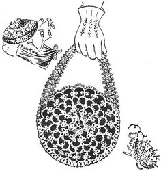 1948 Tatted Handbag Vintage Tatting Pattern PDF 235 by annalaia, $3.75