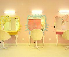 Hello Kitty dressing room with Mimmy,Dear Daniel,and Hello Kitty mirrors