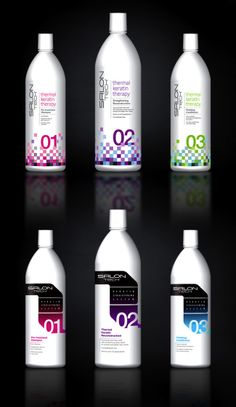 Packaging of the World: Creative Package Design Archive and Gallery: Salon Tech Keratin Treatment Medical Packaging, Bottle Packaging, Cosmetic Packaging, Beauty Packaging, Product Packaging, Plastic Bottle Design, Water Bottle Design, Hair Care Brands, Wine Label Design