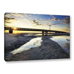 Hatteras Pools And Bridge by Steve Ainsworth Photographic Print on Gallery Wrapped Canvas