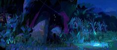Art of Mune, Guardian of the Moon Environment Painting, Environment Concept, Environment Design, Guardian Of The Moon, Scenery Background, Color Script, Matte Painting, Traditional Paintings, Visual Development