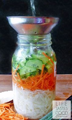 Pickled Vegetable Slaw | by Life Tastes Good