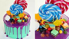 Candyland Chocolate Drip Cake ~ video tutorial https://youtu.be/7b1IASqTxXg