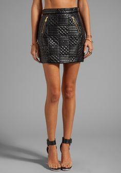 #Revolve Clothing         #Skirt                    #Shakuhachi #Quilted #Mini #Skirt #Black            Shakuhachi Quilted Mini Skirt in Black                                        http://www.seapai.com/product.aspx?PID=528658