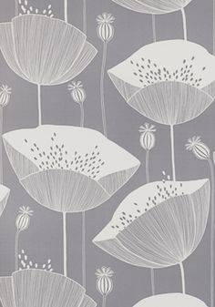Poppy Thunder Wallpaper by MissPrint. PEFC certified and printed in the UK