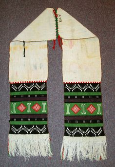 Hopi And Zuni Men And Women Traditional Ceremonial Sash
