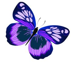 Blue and Purple Butterfly PNG Clipart