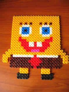 Spongebob made of beads... Done!