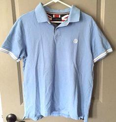 Henri Lloyd Regular Size XL Short Sleeve Polo Shirt Light Blue #HenriLloyd #Polo