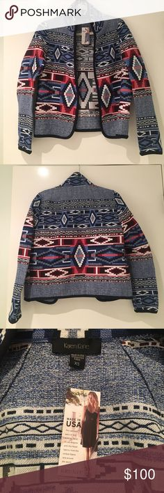 NWT Karen Kane Jacquard Jacket This brand new with tags Jacquard Jacket from Karen Kane is in excellent condition has it has never been worn. Please, no trades. Offers are welcomed. Karen Kane Jackets & Coats