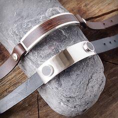Handmade silver and wood bracelets. Pulseras artesanas de cuero y madera. Adam Ballester.