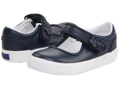 Keds Kids Ella MJ - Leather (Toddler/Little Kid) Navy - Zappos.com Free Shipping BOTH Ways
