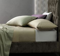 Huge range of quality bedlinen available online. Find a premium brand fitted sheet, luxurious egyptian cotton sheets, bamboo sheets and coordinating sheet sets Interior Design Images, Interior Design Inspiration, King Sheets, Bed Sheets, Velvet Headboard, Egyptian Cotton Sheets, Linen Bedding, Bed Linen