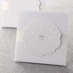 Sculpted Urban Flower by B Wedding Invitations