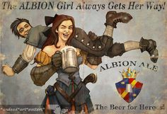 Fable 3 Print Fable Poster The Albion Girls by BlackieAndBlondie, £5.25