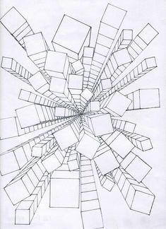 Zentangle with perspective One Point Perspective, Perspective Art, Linear Perspective Drawing, Middle School Art, Art School, High School, 6th Grade Art, School Art Projects, Elements Of Art