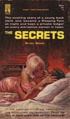 The exciting story of a young bank clerk who became a Peeping Tom at night and kept a private ledger on every attractive woman in town.    In his twisted mind, he rationalized his voyeurism as research. Then he fell in love with one of his victims!