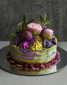 raw rainbow vegan cheesecake