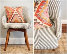 I love this West Elm chair! It even swivels. Modern and a little masculine.