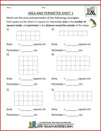 Area and Perimeter Sheets....14 of them!!!