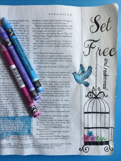 Illustrated Faith, Bible Art Journaling, Exodus 6:6-7 God set the Israelites free from slavery and redeemed them as He does us.By Lynn Egigian