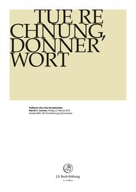 """BWV 168: Martin C. Janssen  Reflexion zum Kantatentext  Martin C. Janssen über BWV 168 """" Tue Rechnung, Donnerwort""""  22. Februar 2013 Janssen, Foundation, Decor, Calculus, February, Decoration, Foundation Series, Decorating, Deco"""