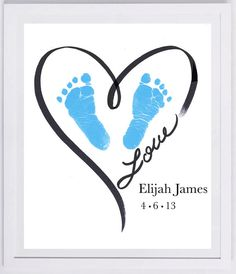 Footprint Art your Child's prints New baby by MyForeverPrints, $25.00
