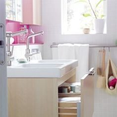 IKEA bathroom - love the sink base