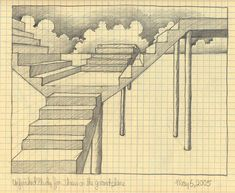 drawing shadows in perspective | Drawing Stairs http://www.memorybanque.com/perspective.html