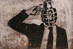 "hackescher hoff, berlin, germany, 2007 Made by streetartist ""Dolk"" - #streetart #aryz - Click for more streetart"