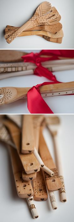 DIY: Etched Wooden Spoons. No paint, so they're food safe!