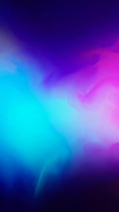 iOS 11, iPhone X, blue, purple, abstract, apple, wallpaper