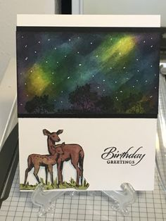 Northern Lights Meadow by harleygirl50 - Cards and Paper Crafts at Splitcoaststampers