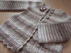 Stunning Flower Cardigan Crochet Pattern