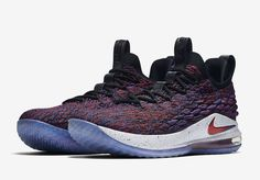 Nike LeBron 15 Low Multicolor University Red AO1755-900