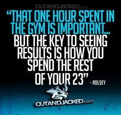 that one hour spent in the gym is important... but the key to seeing results is how you spend the rest of your 23