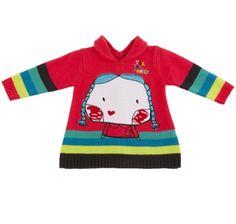 Vestido tricô, para menina - tuc tuc