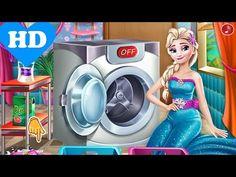♥ Disney Frozen Elsa Games Elsa Frozen Laundry Frozen 2 Game  ♥