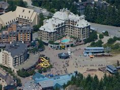 Looking down on the bases of #Whistler and #Blackcomb in the summer