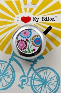 white floral bike bell by BeachyToes on Etsy, $8.00