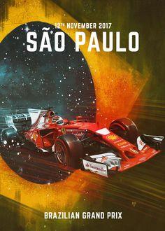 F1 Racing Drivers 2012 Poster Grand Prix Brazil Motivation Formula Sport Racing